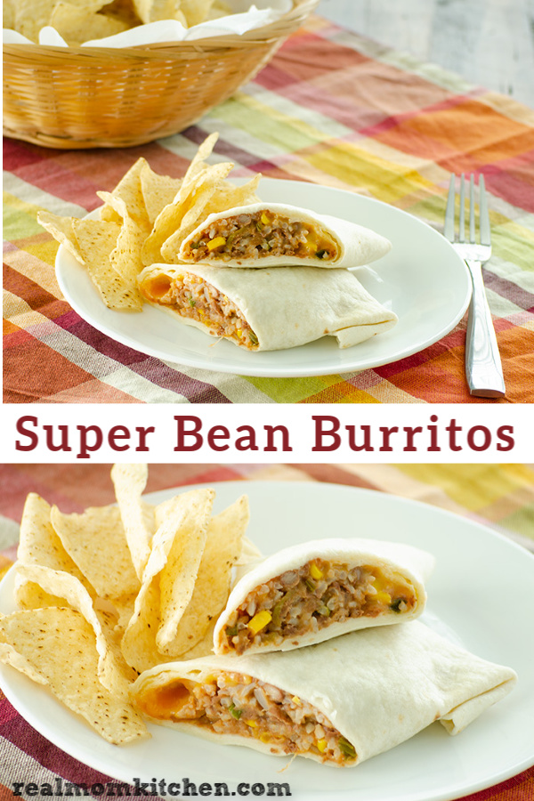 Super Bean Burritos | realmomkitchen.com