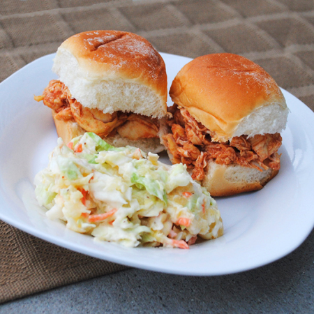 Pulled Chicken Slider Sandwiches and a Slow Cooked Super Bowl