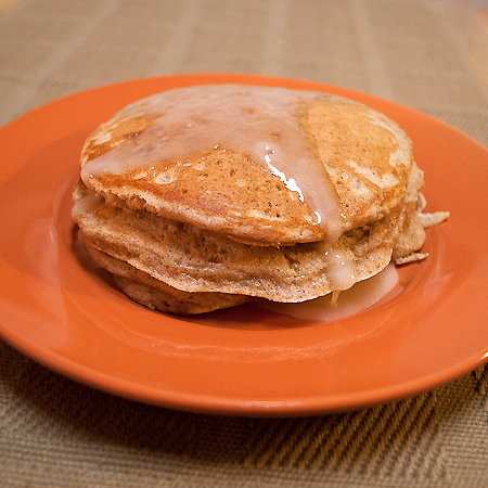 Cinnamon Bun Pancakes with Maple Butter Icing   realmomkitchen.com
