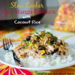 Slow Cooker Easy Mango Chicken | realmomkitchen.com