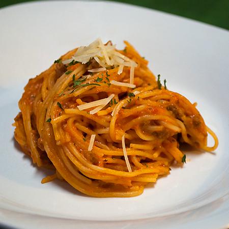 picture of spaghetti a la philly