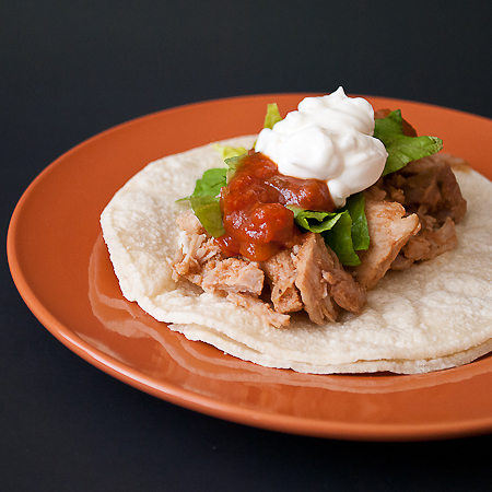 picture of citrus pulled pork taco