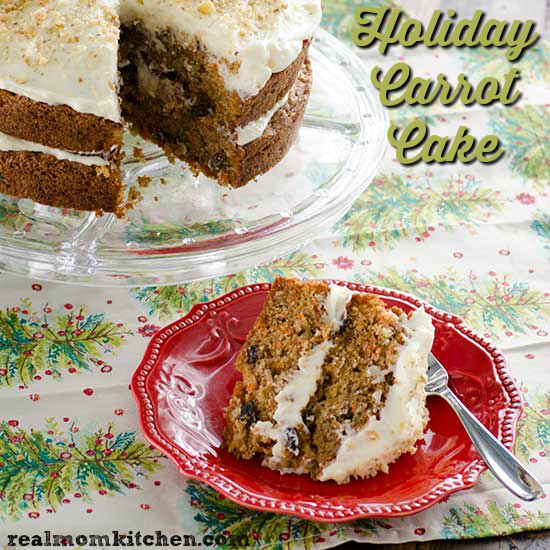 Holiday Carrot Cake | realmomkitchen.com