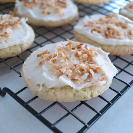 Lime in the Coconut Frosted Cookies | Real Mom Kitchen