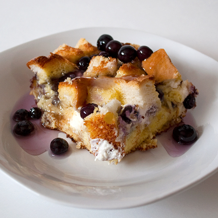 Overnight Blueberry French Toast with Blueberry Syrup | Real Mom ...