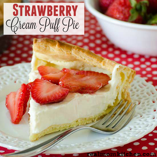 Strawberry Cream Puff Pie | realmomkitchen.com