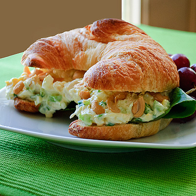 Salads And Sandwiches. Salad Croissant Sandwiches