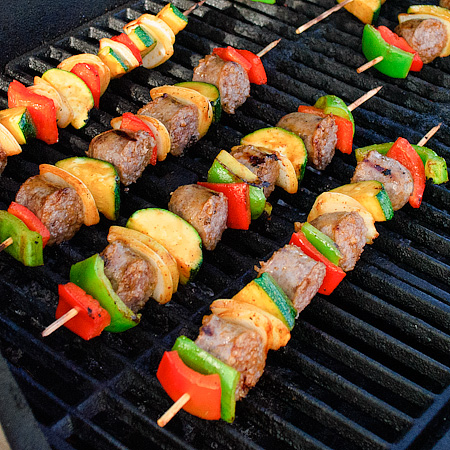 Grilled Shark Kabobs Shish Kabobs on The Grill