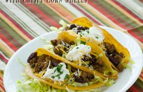 Saucy Tacos with Crispy Corn Shells   realmomkitchen.com