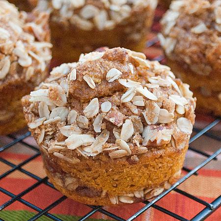 Pumpkin Cinnamon Streusel Muffins Recipe — Dishmaps