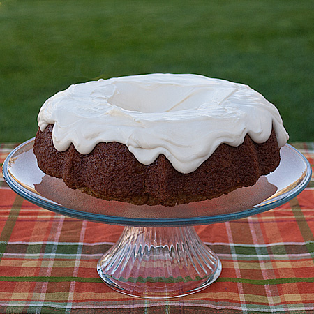 Zucchini Cake with Sour Cream Frosting