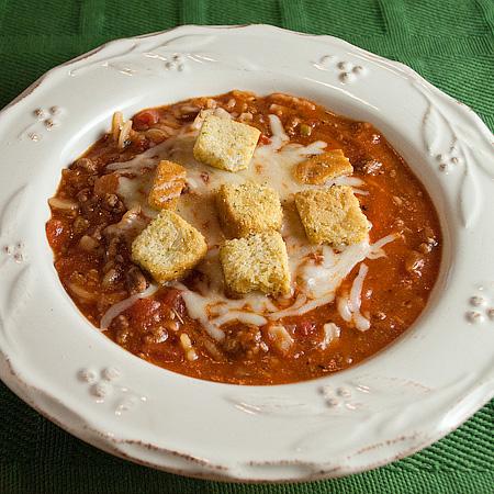 Taste Like Lasagna Soup | realmomkitchen.com