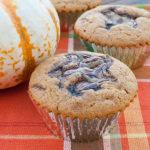 Pumpkin Nutella Swirl Muffins | realmomkitchen.com