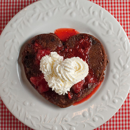 Double Chocolate Strawberry Topped Pancakes | Real Mom Kitchen