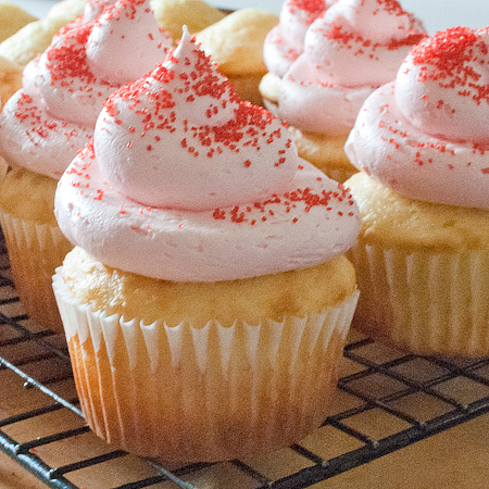 Strawberry Filled Cupcakes With Laffy Taffy Frosting | Real Mom ...