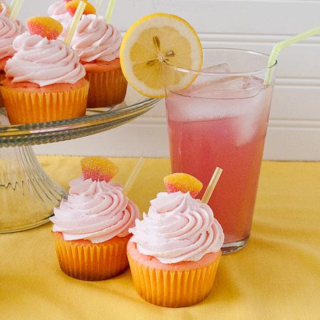 Pink-Lemonade-CupcakesLemonade Cupcakes