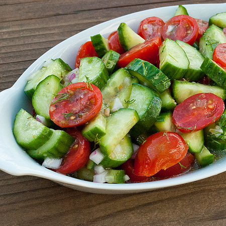 Cucumber and Tomato Salad | Real Mom Kitchen