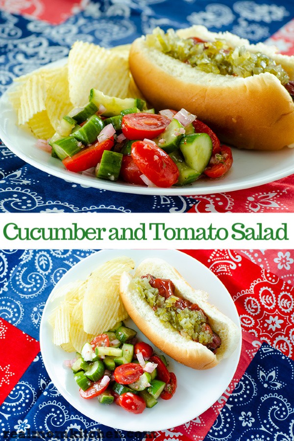 Cucumber and Tomato Salad | realmomkitchen.com