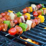 Grilled Chicken Sausage Kabobs   realmomkitchen.com