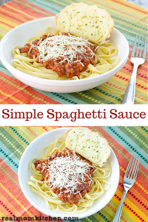 Simple Spaghetti Sauce | realmomkitchen.com