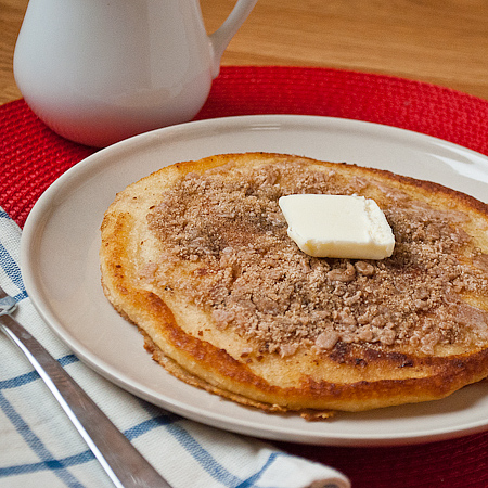 Cinnamon Streusel Pancakes | Real Mom Kitchen