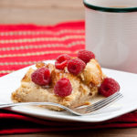 Raspberry White Chocolate Baked French Toast | realmomkitchen.com