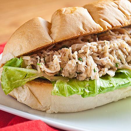 Slow Cooker Chicken Caesar Salad Sandwiches | Real Mom Kitchen