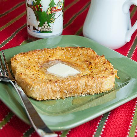 Crispy Orange Baked French Toast | realmomkitchen.com