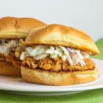 Buffalo Chicken Sliders with Ranch Slaw | realmomkitchen.com