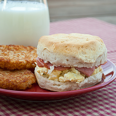 creamy egg and biscuit sandwiches if you prepare the biscuits