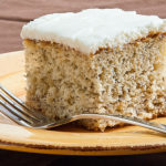Simple Banana Cake with Sour Cream Frosting   realmomkitchen.com