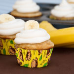 Simple Banana Cupcakes | realmomkitchen.com with Sour Cream Frosting | realmomkitchen.com