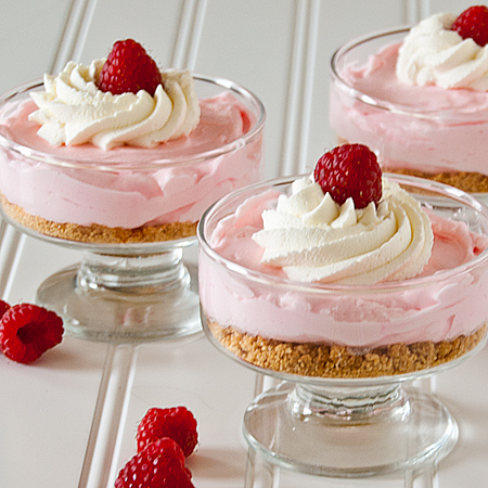 Red And Golden Raspberry Lemon Baby Cheesecake Pies Recipes ...