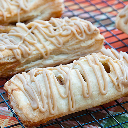 Apple Turnovers with Caramel Icing