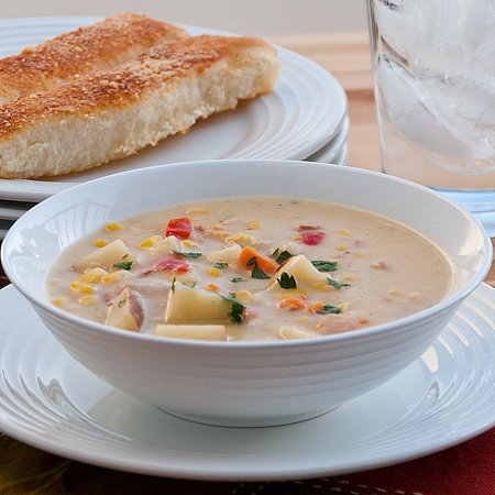 Bacon and Corn Chowder {Slow Cooker} | Real Mom Kitchen
