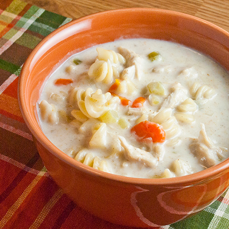 Flashback Friday – Creamy Chicken Noodle Soup