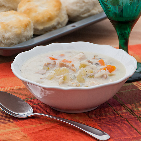 Creamy Turkey and Wild Rice Soup