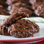 Salted Caramel-Stuffed Chocolate Truffle Cookies | realmomkitchen.com