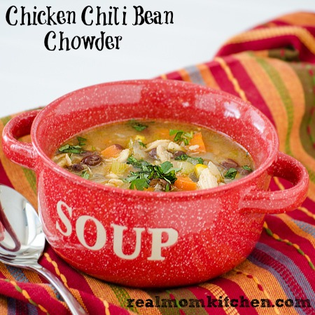 Chicken Chili Bean Chowder | realmomkitchen.com