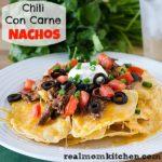 Chili Con Carne Nachos | realmomkitchen.com