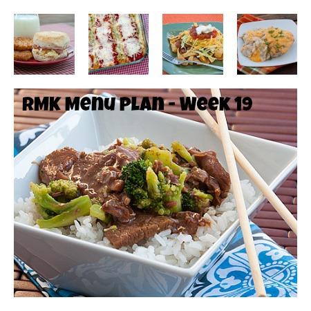 RMK Menu Plan Monday week 19