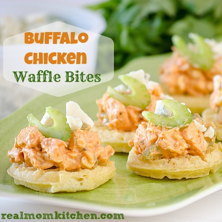 Buffalo Chicken and Waffle Bites | realmomkitchen.com #EggoWaffleOff