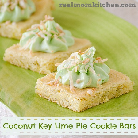 Coconut Key Lime Pie Cookie Bars | realmomkitchen.com