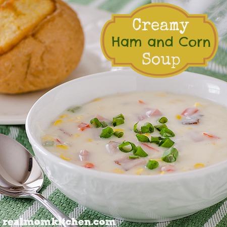Creamy Ham and Corn Soup | realmomkitchen.com