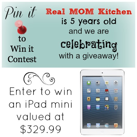 pin it contest on realmomkitchen.com