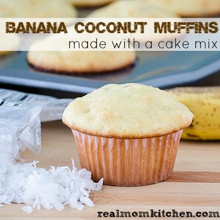 Banana Coconut Muffins | realmomkitchen.com