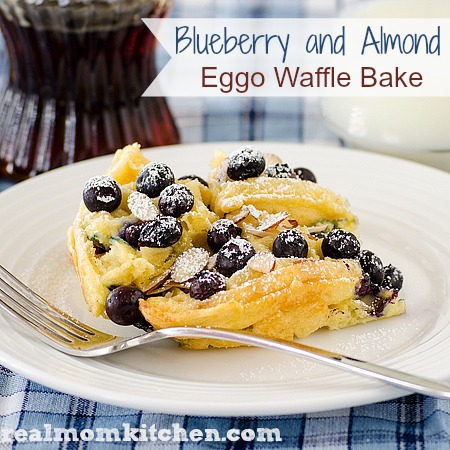 Blueberry and Almond Eggo Waffle Bake | realmomkitchen.com #EggoWaffleOff