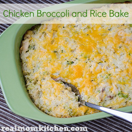 Chicken Broccoli and Rice Bake | realmomkitchen.com