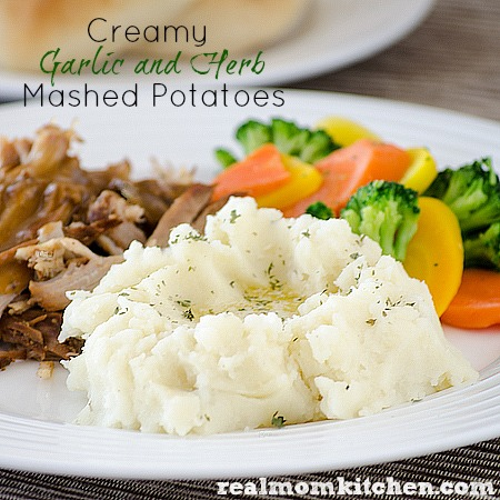 Creamy Garlic and Herb Potatoes | realmomkitchen.com
