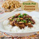 Crock Pot Cashew Chicken   realmomkitchen.com